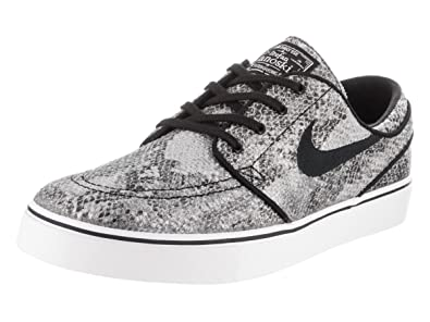 NIKE Men's Zoom Stefan Janoski Prem TXT Black/White Green Glow/Black Skate  Shoe