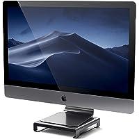 Satechi Type-C Aluminum Monitor Stand Hub with USB-C Data, USB 3.0, Micro/SD Card Slots & 3.5mm Headphone Jack…