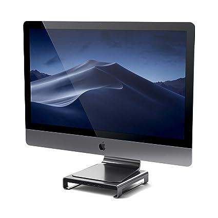 Satechi Type-C アルミニウム iMac スタンド USB-Cデータ USB 3.0 Micro/SDカードスロット 音声ジャック (iMac Pro, 2016/2017 iMacなど対応) (スペースグレイ)