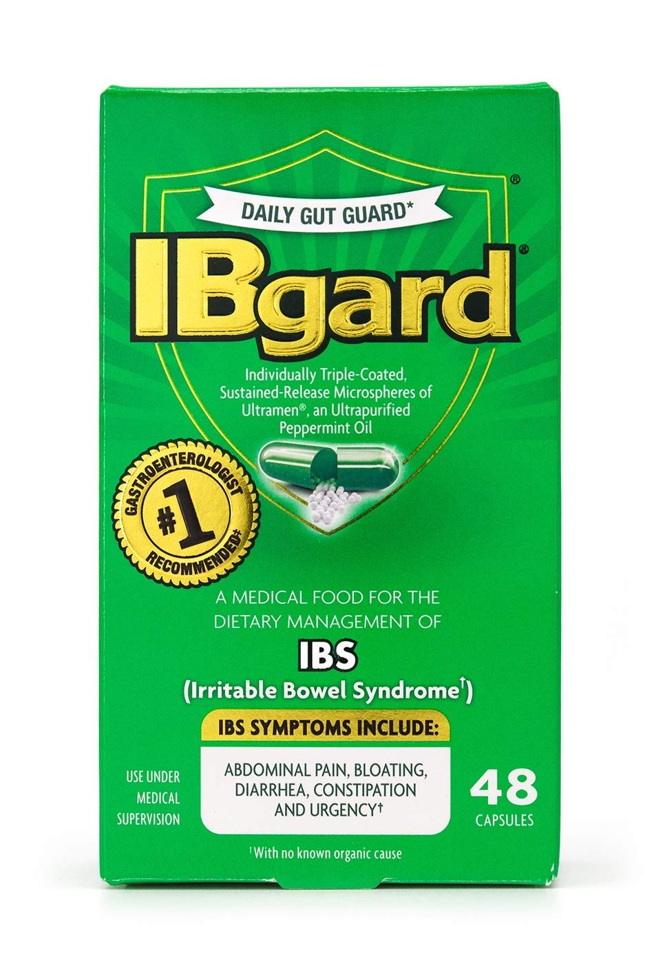 IBgard for Irritable Bowel Syndrome 2 Value Pack (48 Capsules Each) by IBgard