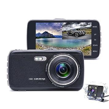 Dashcam, Cámara de coche Full HD de 1080P con lente de gran ángulo, cámara