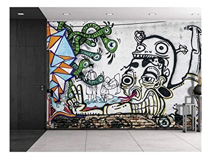 Amazon Com Wall26 Colorful Graffiti Large Wall Mural Removable