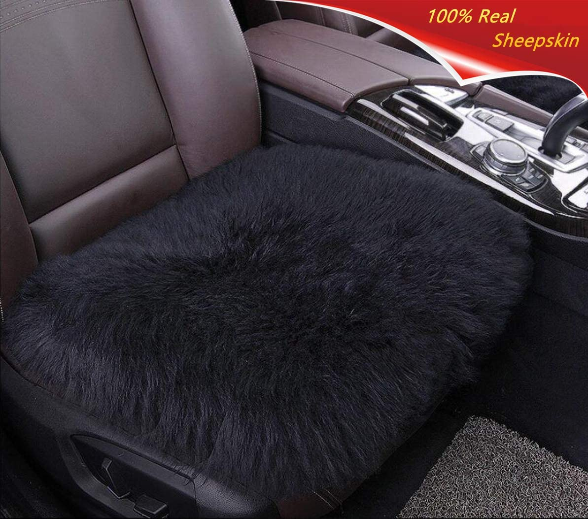 Universal Fit for Cars Driver Seat Office Chair Gray Big Ant Sheepskin Seat Covers Sleek Design Authentic Australian Full Size Car Seat Pad Soft Long Wool Warm Seat Cushion Cover Winter Protector