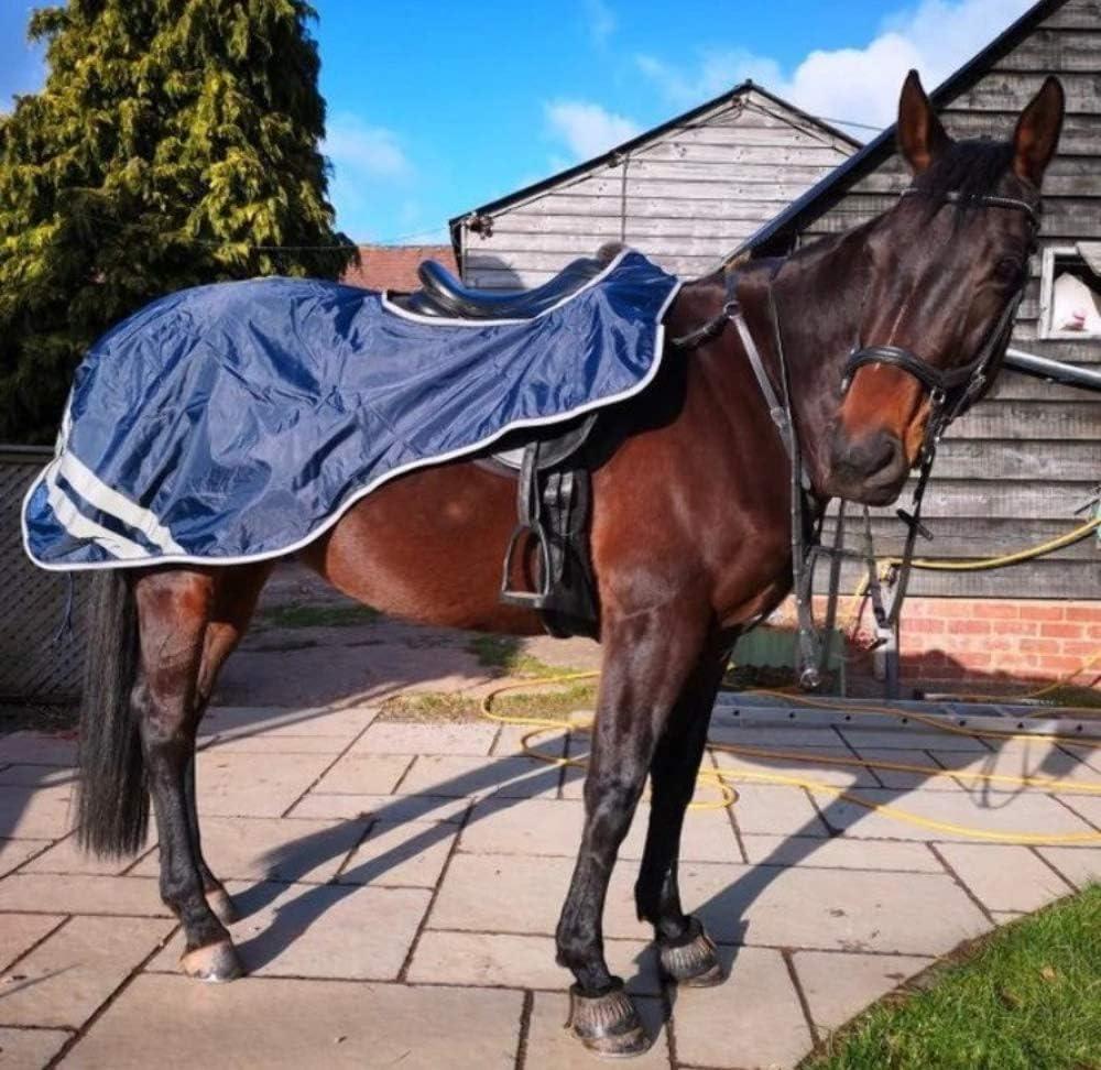 Navy Swish Equestrian Waterproof Exercise Sheet//Horse Waterproof Exercise Rug