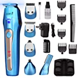 Ceenwes Cool 5 In 1Mens Grooming Kit Professional Beard Trimmer Rechargeable Hair Clippers Multi-purpose Mustache Trimmer Waterproof Nose& Ear Body Trimmer For Men Father Husband Boyfriend