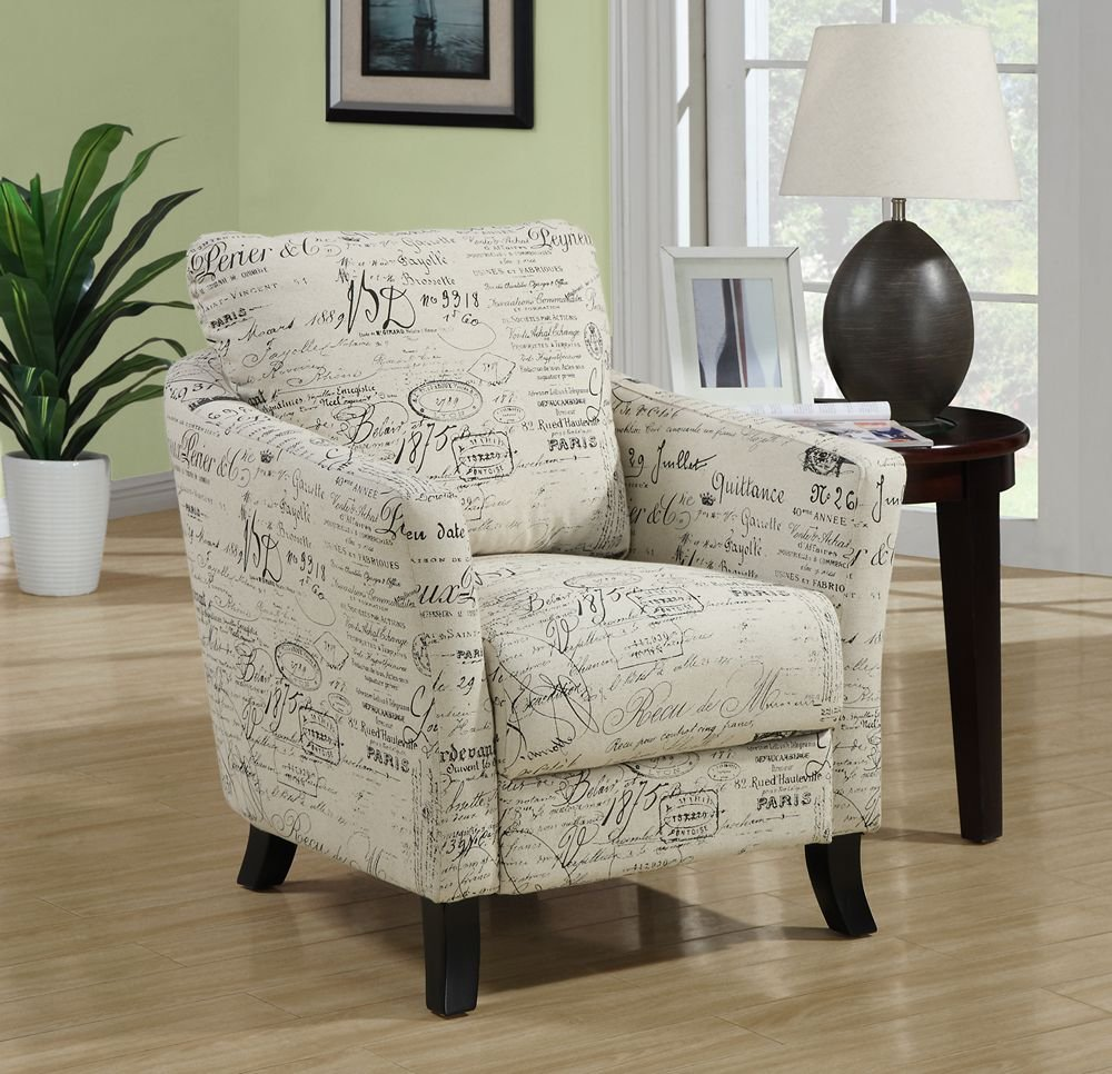 Amazon.com: Monarch Specialties Vintage French Fabric Accent Chair, Off  White: Kitchen U0026 Dining