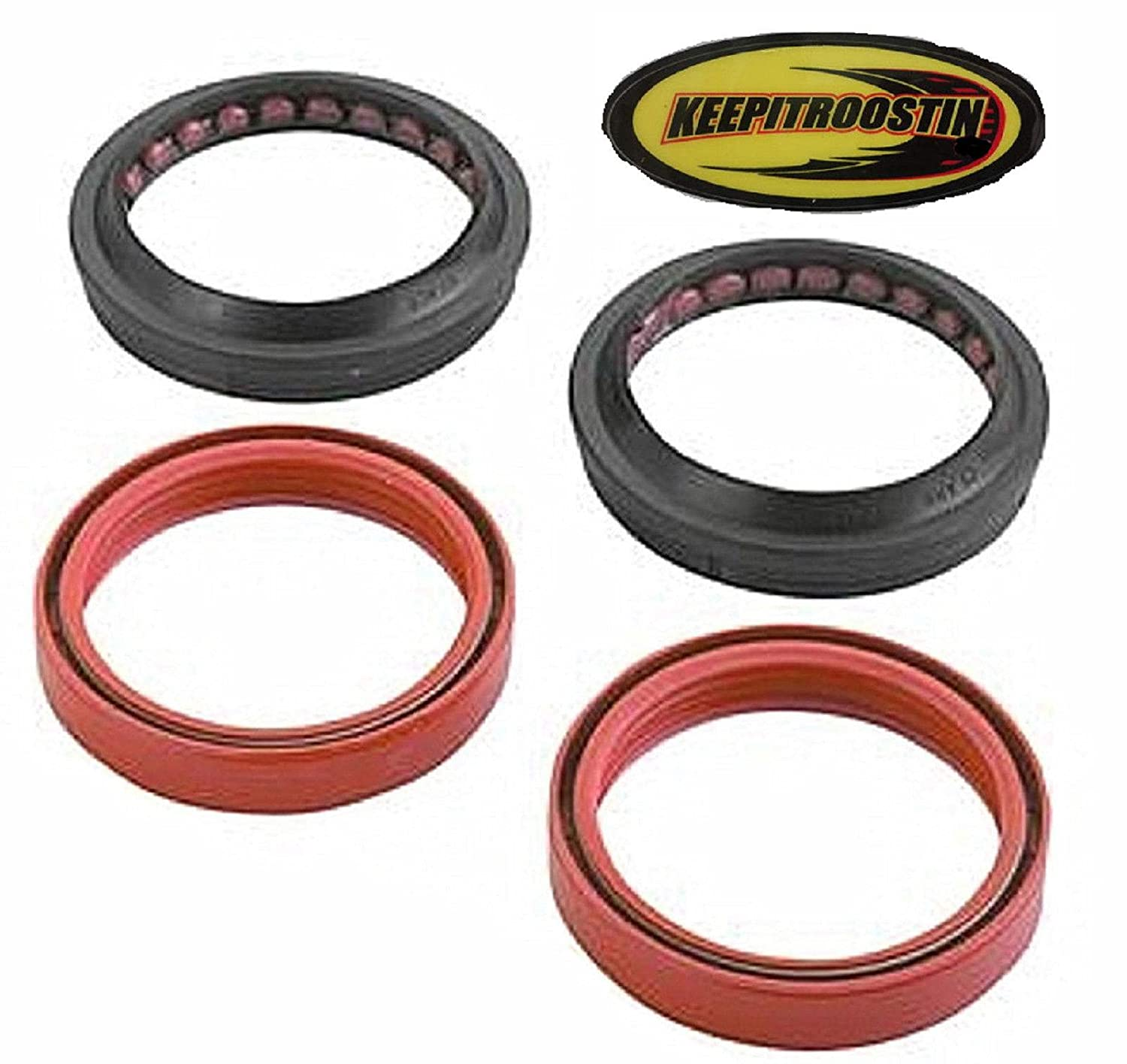 Fork and Dust Seals with Keepitroostin Sticker Fits Honda Cr250 2002-2007 All Balls 250cr56-142