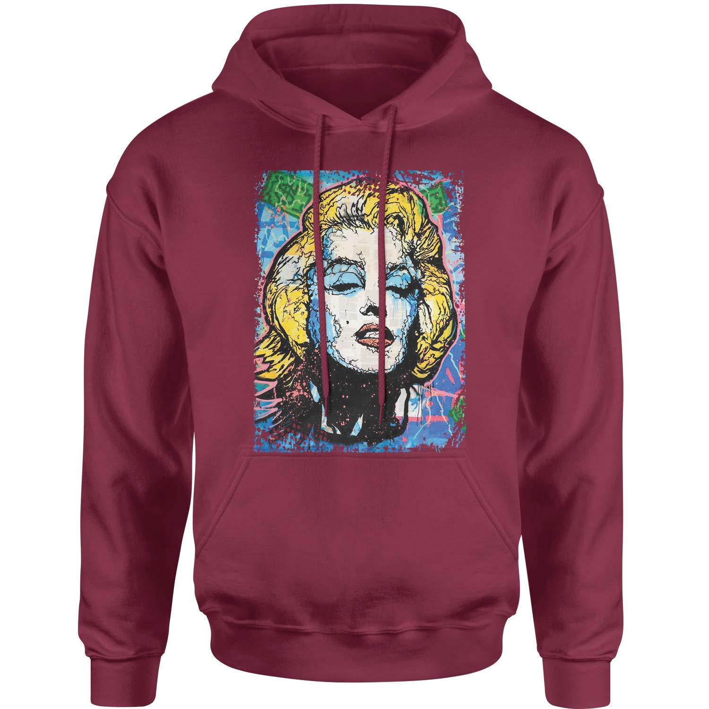 Expression Tees Pop Art Marilyn Monroe Unisex Adult Hoodie