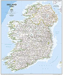Map Of Ireland Jpg.National Geographic Ireland Classic Wall Map 30 X 36 Inches