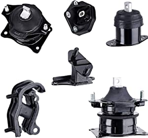 3.0 V6 Engine Motor Mount Transmission Support Kit Replacement for 2003 2004 2005 2006 2007 Honda Accord 3.0L and 04 05 06 Acura TL 3.2L, 2004-2008 Acura TL 3.5L A4527HY A4526HY A4525 A4544 A4517 A452