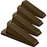 Classic Rubber Door Stopper Wedge – Sturdy and Stackable Door Stop, Multi Floor Doorstop Ensures Tight Fit for Gaps up…