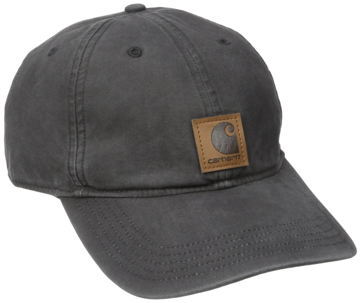 Carhartt Men's Medium Profile 100 Percent Cotton Odessa Force Cap, Black, One Size by Carhartt