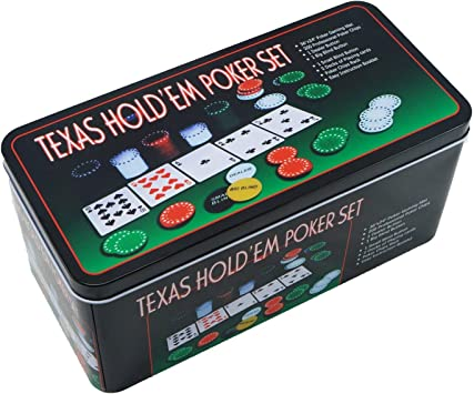 Extraela Set de póker Caja de Metal, 200 fichas de póker, 2 ...