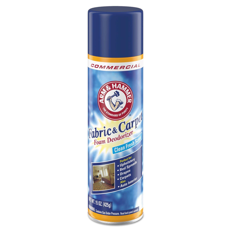 Arm & Hammer 3320000514CT Fabric and Carpet Foam Deodorizer, Fresh Scent, 15 oz Aerosol (Case of 8)