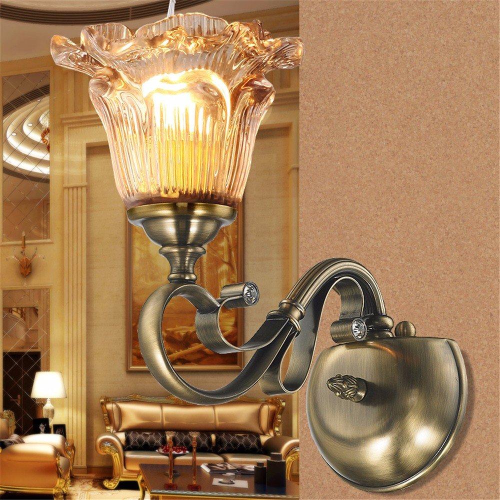 Anbiratlesn Modern Wandleuchten E27 Antik Wandlampe Vintage Rustikal Wandlampe für Schlafzimmer Wohnzimmer Bar Flur Badezimmer Küche Balkon Innen Lampe Led-Hotel Studie einem Kopf Wandleuchte