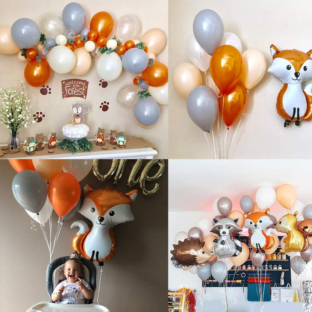 65pcs MMTX Jungle Birthday Party Decoration Boys-Happy Birthday Banner with Palm Leaves Latex Balloons and Safari Forest Animal for Boy Birthday Baby Shower Hawaiian Decor
