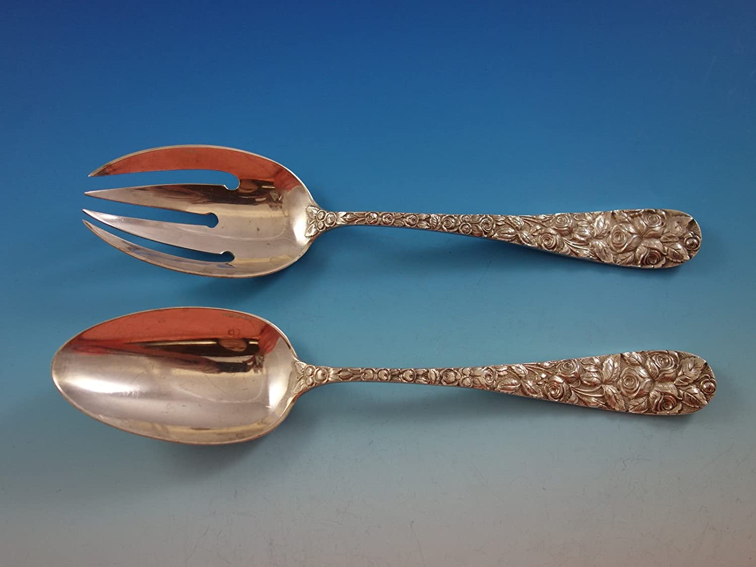 Amazon.com | Baltimore Rose by Schofield Sterling Silver Flatware 12 ...