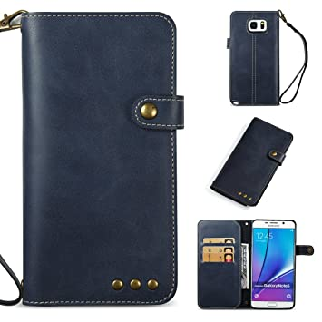 Yoota Funda Galaxy Note 5, Carcasa de Cuero Funda Billetera ...