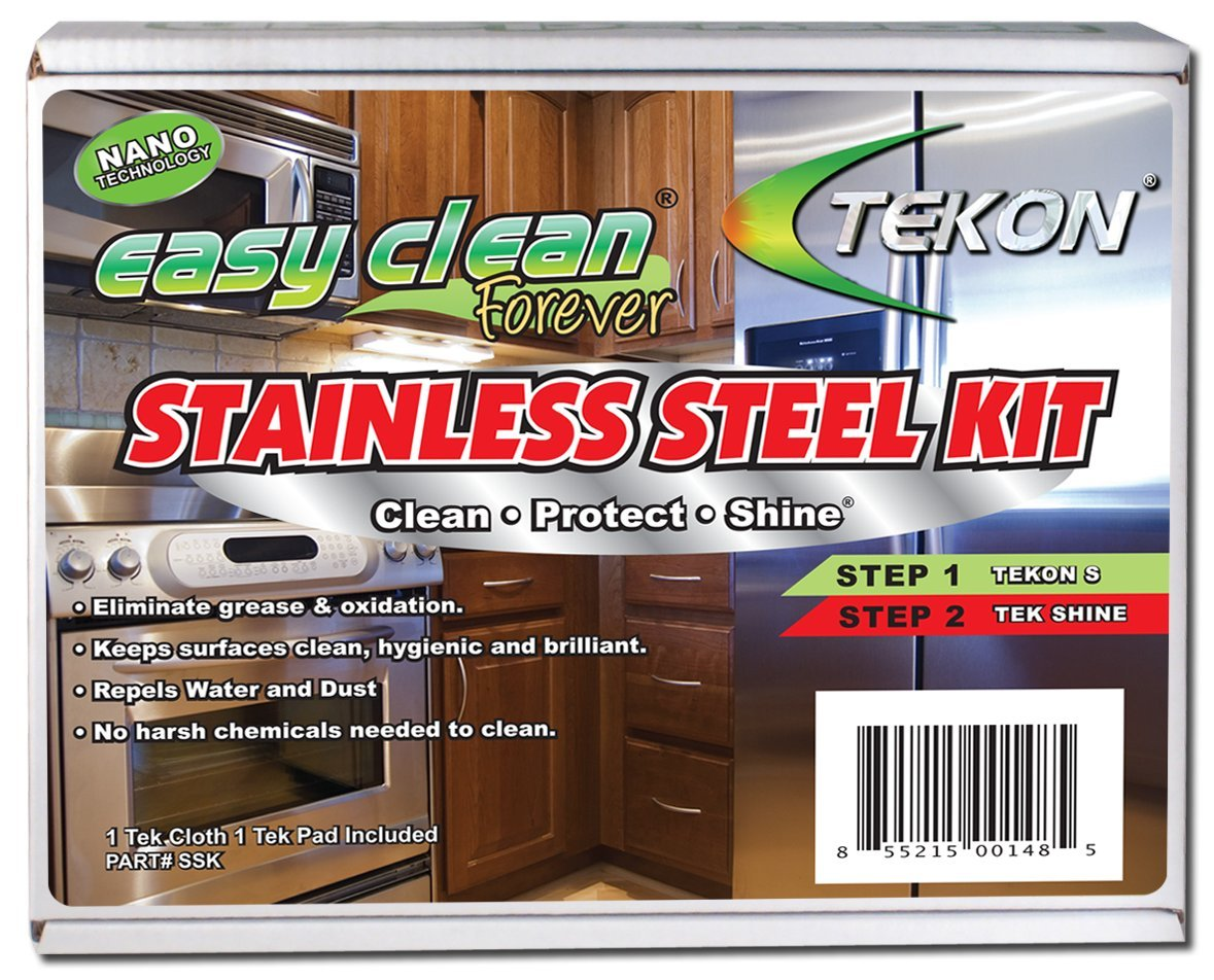 Tekon - Easy Clean Forever Stainless Steel Kit - Clean Protect Shine. by TEKON - the manufacturer of Repellant Wash