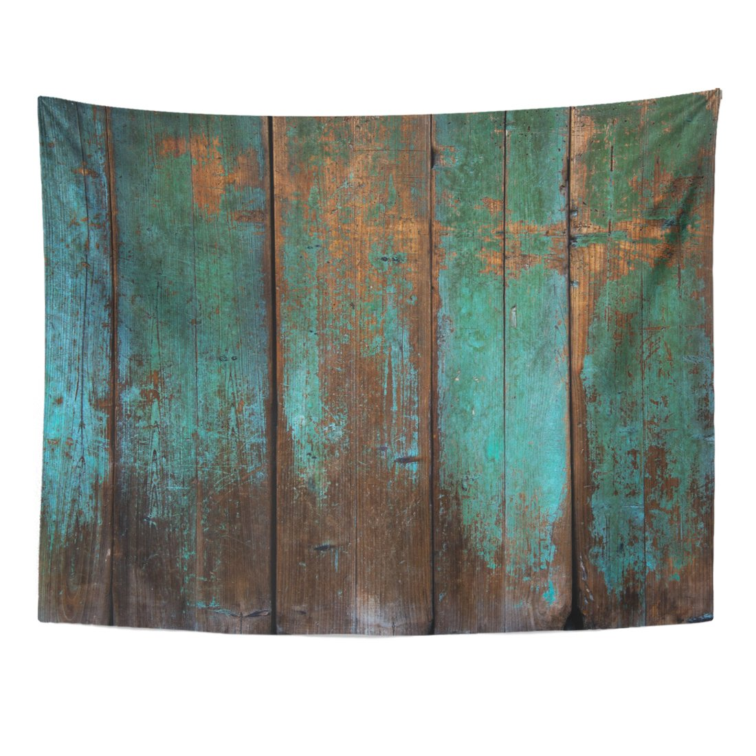 Emvency Tapestry Brown Wooden Old Grunge Wood Panels Used As Green Interior Paint Home Decor Wall Hanging for Living Room Bedroom Dorm 60x80 inches
