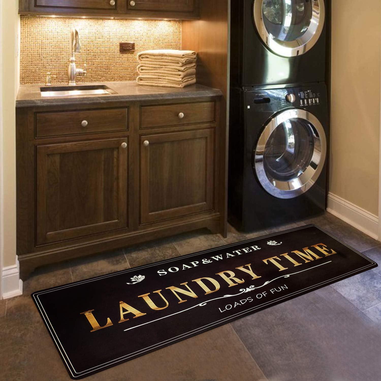 USTIDE Farmhouse Sign, Vintage Laundry Room Runner Washer Dryer Rugs Lost Socks Sign