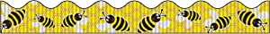 Bordette Scalloped Bee Dazzle Decorative Border, 2-1/4 Inches x 25 Feet