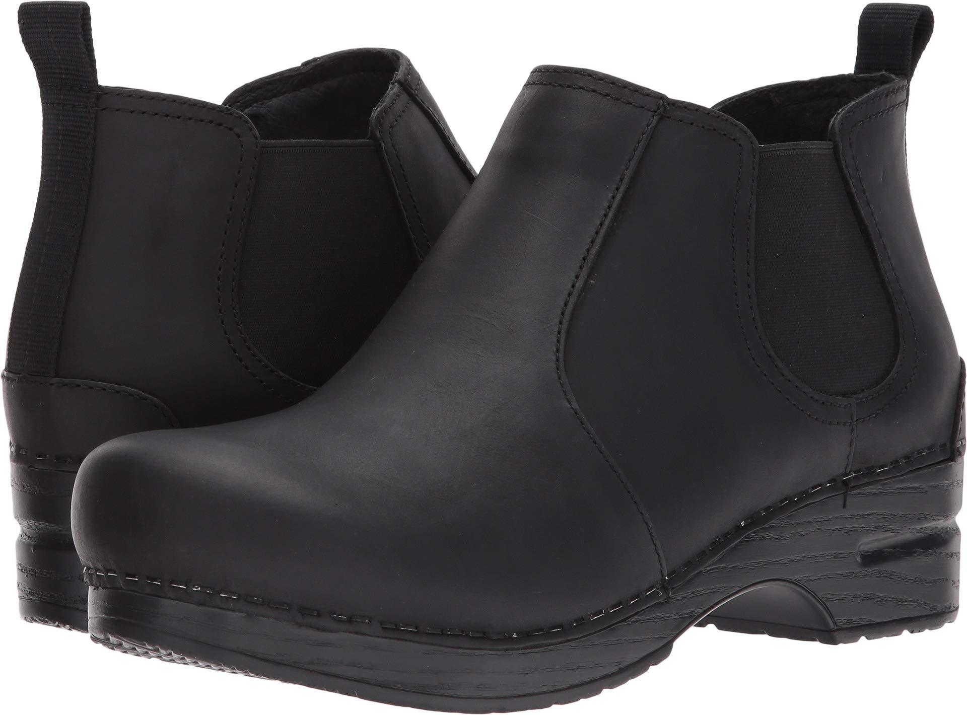 Dansko Women's Frankie Ankle Bootie, Black Oiled, 39 EU/8.5-9 M US by Dansko