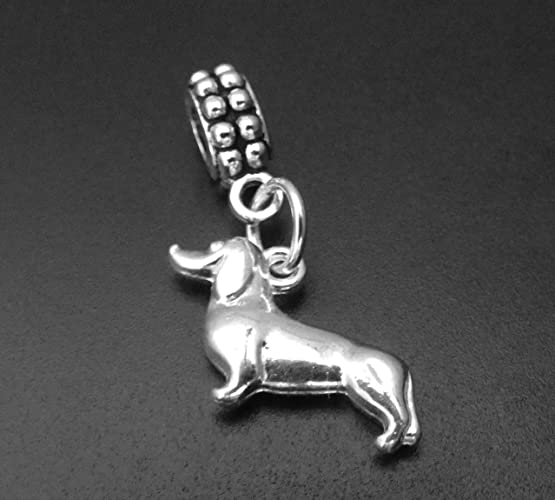 4ba751cae3930 Amazon.com: Dachshund Charm for European and Brand Bracelets and ...