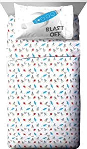 Jay Franco Trend Collector Blast Off Toddler Sheet Set - 3 Piece Set Super Soft and Cozy Kid's Bedding - Fade Resistant Microfiber Sheets