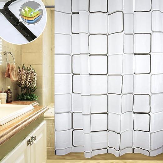 180 x 180 Auralum/180 x 200 cm PEVA cortina de la ducha de bañera para