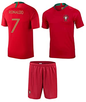 new style a29e0 5dc11 Portugal Ronaldo Kids #7 Soccer Kit Jersey & Free Shorts & Soccer Ball  Drawstring BagAll Youth Sizes