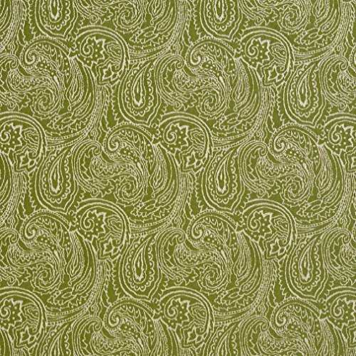 B631 Light Green Traditional Paisley Jacquard Woven Upholstery Fabric by The Yard ()