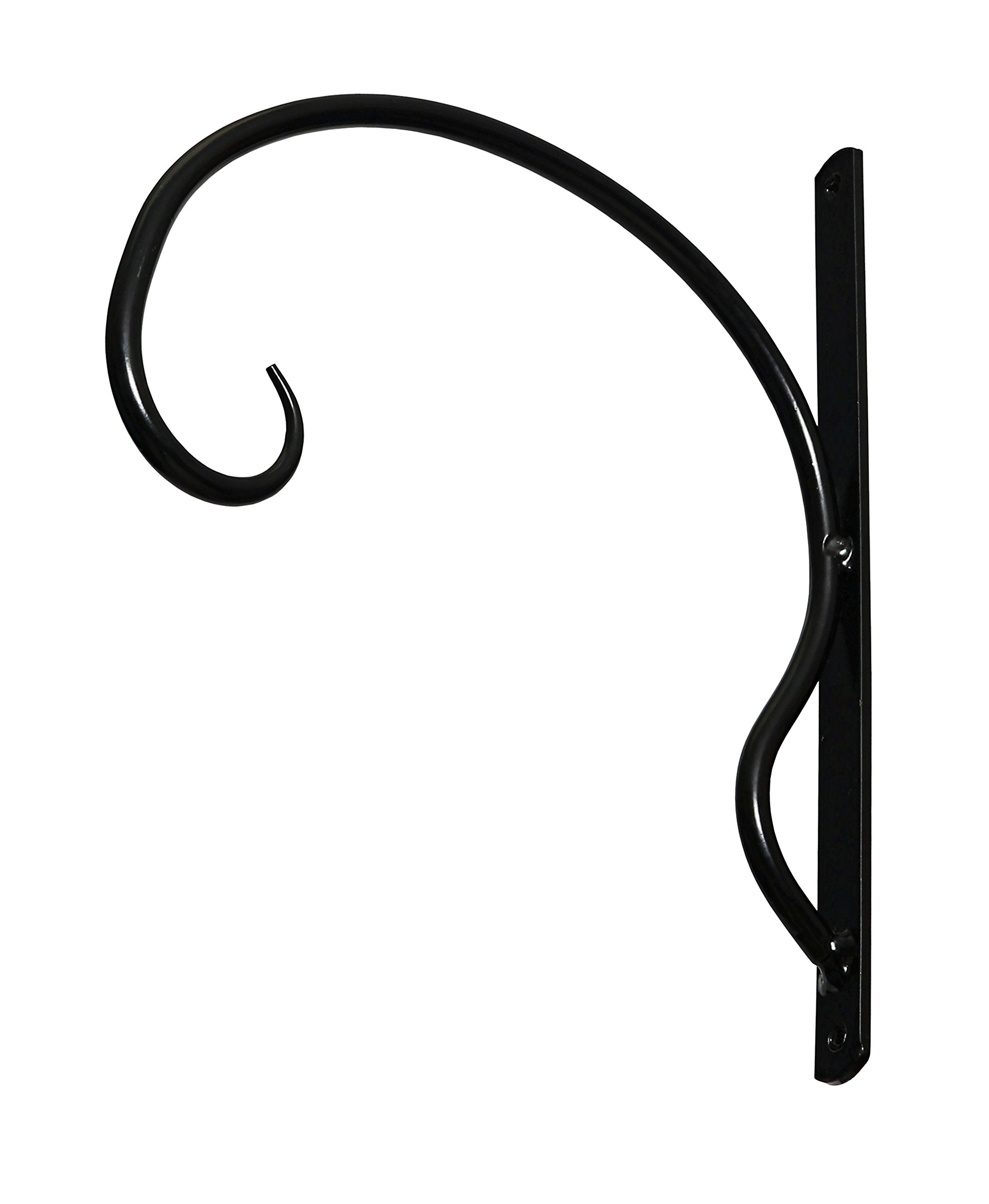 Exceptionally Sturdy, Iron Hanger for Heavy Duty Doodads, Elegant Hook/Bracket for Hanging Wind Chimes, Plants, Wind Spinners, Bird Feeders, Great for Easy Enhancements to Indoor & Outdoor Décor by UpBlend Outdoors