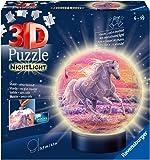 Pferde am Strand, Nachtlicht 3D Puzzle-Ball 72 Teile: Erlebe Puzzeln in der 3. Dimension