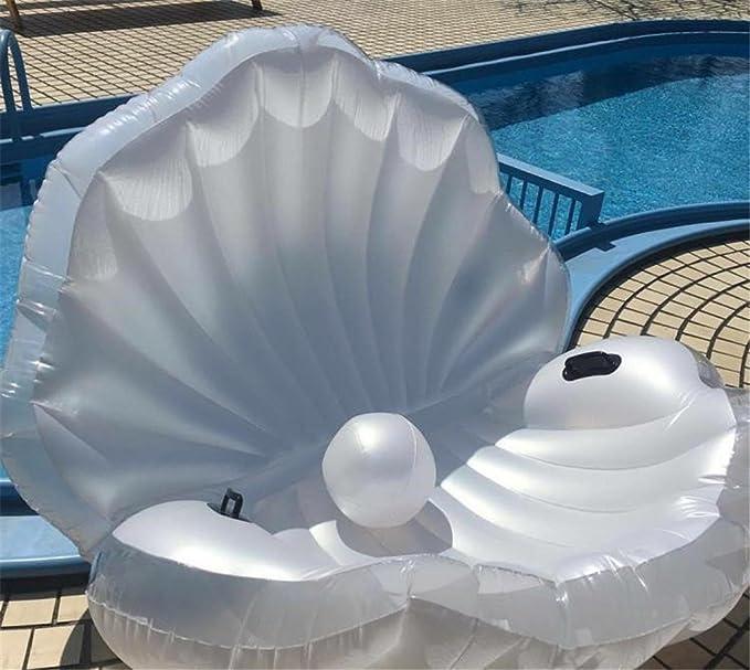 Flotador inflable de la piscina del PVC Conchas de la piscina Flotador gigante de la perla Deporte del verano Balsa del deporte Balsa Seashell Piscina ...