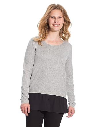 Balsamik - Pullover aus Materialmix im Lagen-Look - Damen: Amazon.de:  Bekleidung