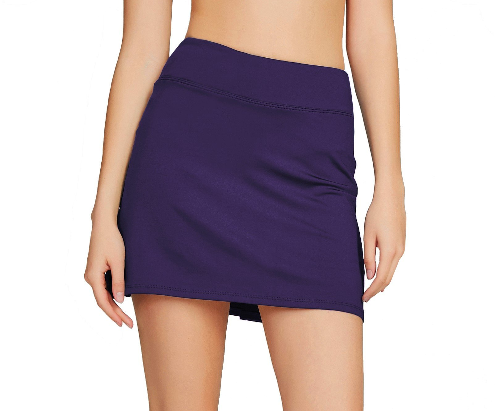 Cityoung Women's Casual Pleated Tennis Golf Skirt with Underneath Shorts Running Skorts d_pl xs