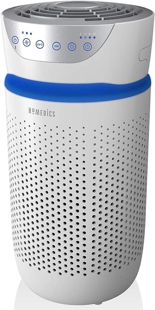 HoMedics Purificador de aire Filtro HEPA con carbón activo. Purificador aire hogar, Elimina hasta el 99.9% de los ...