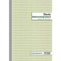 Exacompta 13148E Un Devis micro Entrepreneur 50 feuillets Dupli autocopiant, 29.7 x 21 cm