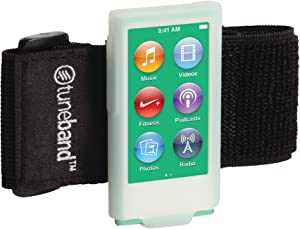 TuneBand for iPod Nano 7th Generation / 8th Generation (Model A1446, 16 GB), Premium Sports Armband with Two Straps and Two Screen Protectors, Glow in The Dark
