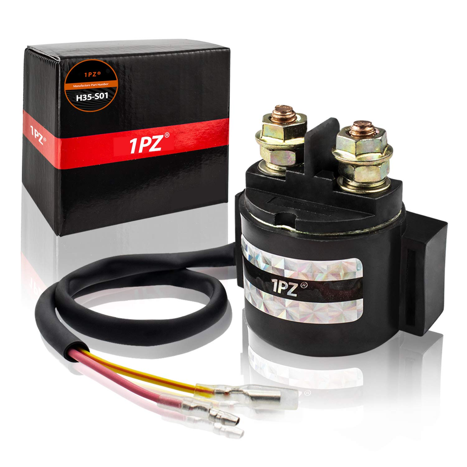 1PZ H35-S01 Premium Starter Solenoid Relay for Honda TRX250 TRX 250 Fourtrax Recon ATV 1997-2008 by 1PZ
