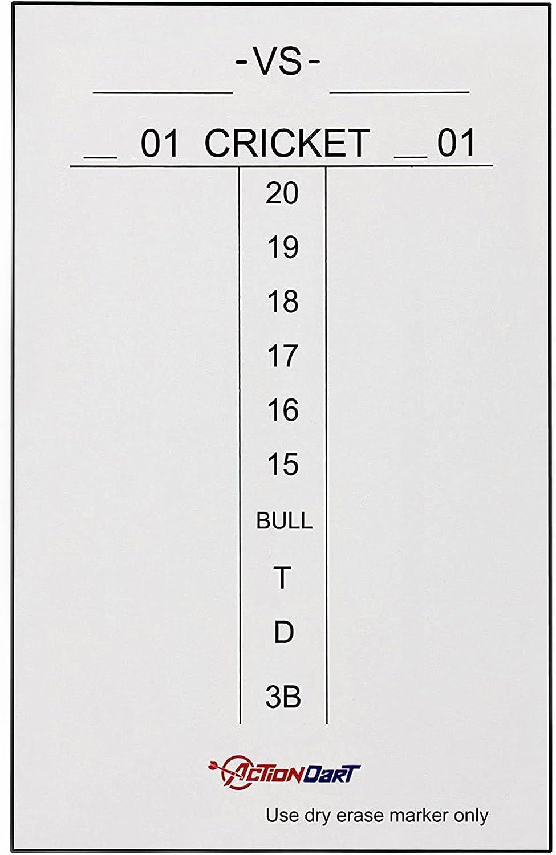 Piero Lorenzo マグネット ホワイトボード スコアボード - クリケットと01ダーツゲーム - 17インチx 11インチ - 14インチ x 10インチ - ブラックフレーム付き 17\