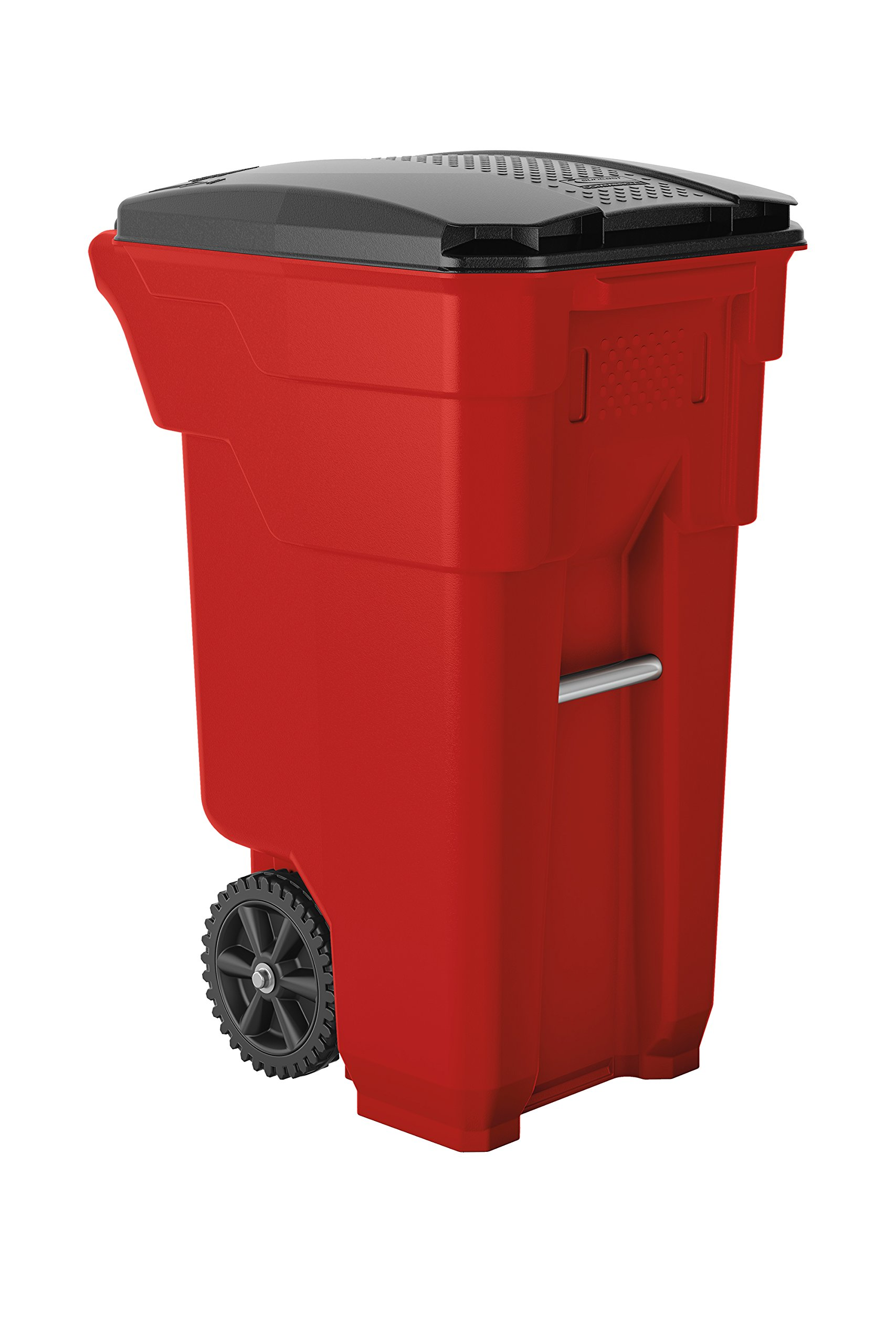 Suncast Commercial BMTCW32R Wheeled Trash Can, 36.5'' Height, 20.25'' Width, 26.5'' Length, 32 gal Capacity, Polyethylene, Red