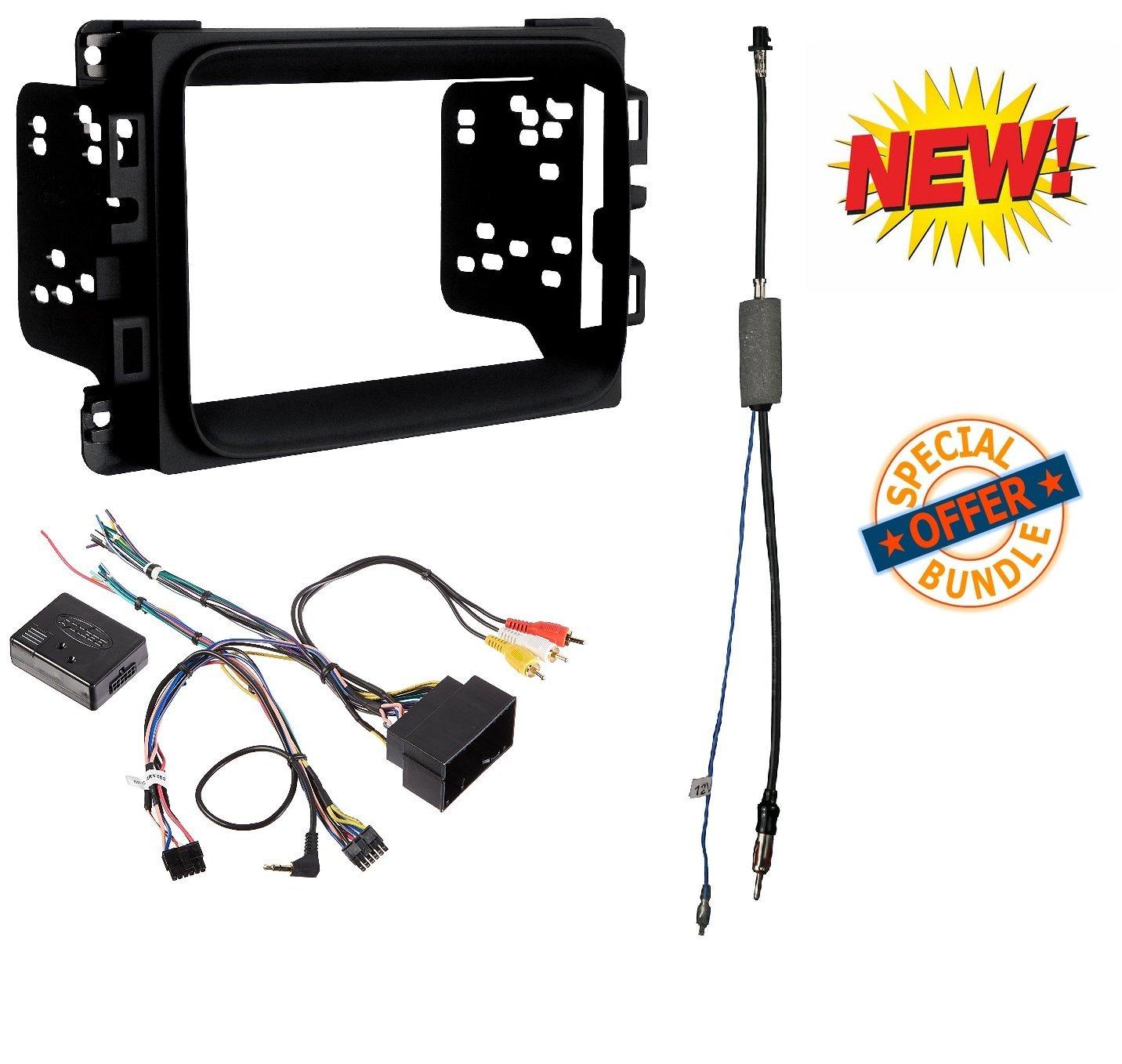 2013-2017 RAM Double DIN CAR Stereo Installation Dash KIT +Harness +Antenna