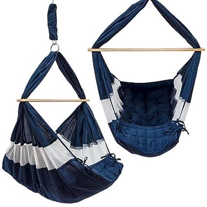 7b6346542 DuneDesign Hamaca para Bebé 70x36x94cm cuna silla colgante infantil Azul