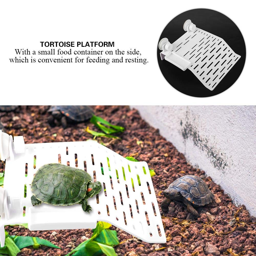 L FTVOGUE Tortoise Platform Turtle Acrylic Terrace Floating Island Aquarium Tank Decor Climbing Dock for Semi Aquatic Animals