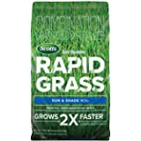 Scotts Turf Builder Rapid Grass Sun & Shade Mix: up to 2,800 sq. ft., Combination Seed & Fertilizer, Grows in Just Weeks, 5.6