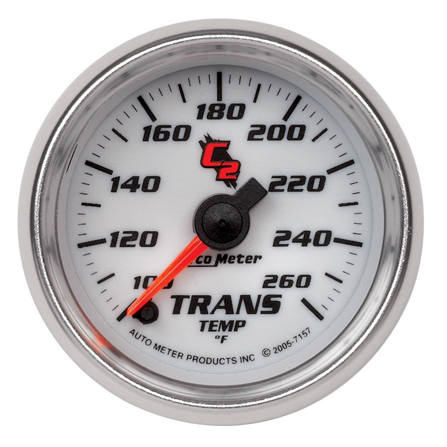 Auto Meter 7157 C2 Full Sweep Electric Transmission Temperature Gauge by Auto Meter