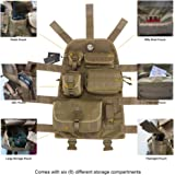 OneTigris Tactical Molle Seat Cover w/6 Pouches for 76-06 Jeep CJ YJ TJ LJ WRANGLER (Coyote Brown)