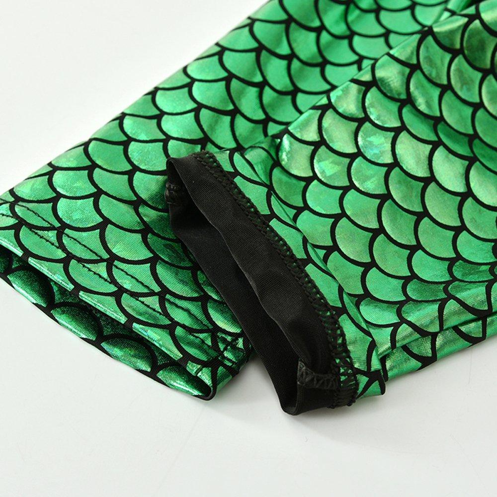 Infant Baby Girls Mermaid Outfits Shirt Top Shiny Fish Scale Pant Headband 3Pcs Clothes Set